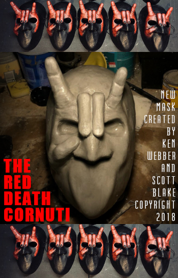 The Red Death Cornuti mask